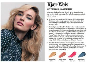 Kjaer Weisin kevään ensimmäinen meikkilook – Color Me Blue