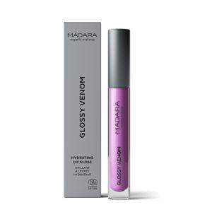 MÁDARA Glossy Venom Hydrating Lip Gloss -Kosteuttava Huulikiilto Lilac Euphoria 77
